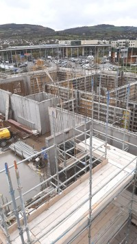 Construction work at Block E City West, Dublin - Formwork, Concreting, Steel Fixing and Labour Hire from MC Formwork, Donegal, Ireland