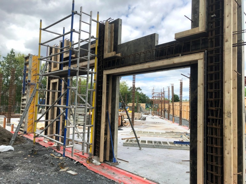 Construction work at Castletymon Library, Dublin 24 - Formwork, Concreting, Steel Fixing and Labour Hire from MC Formwork, Dublin & Donegal, Ireland